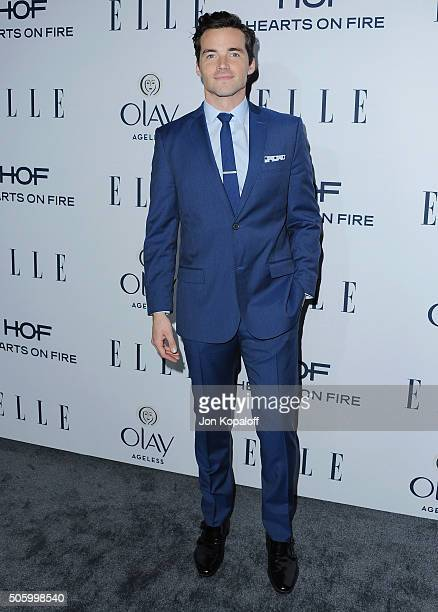 Actor Ian Harding arrives at ELLE's 6th Annual Women In Television Dinner at Sunset Tower Hotel on January 20 2016 in West Hollywood California