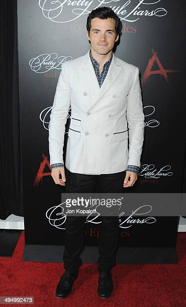 Actor Ian Harding arrives at 'Pretty Little Liars' Celebrates 100 Episodes at W Hollywood on May 31 2014 in Hollywood California