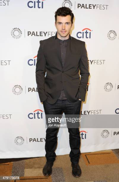 Actor Ian Harding arrives at the 2014 PaleyFest 'Pretty Little Liars at Dolby Theatre on March 16 2014 in Hollywood California