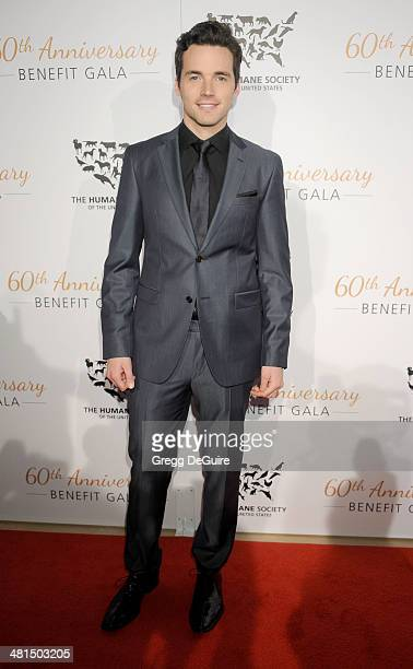 Actor Ian Harding arrives at The Humane Society Of The United States 60th anniversary benefit gala at The Beverly Hilton Hotel on March 29 2014 in...