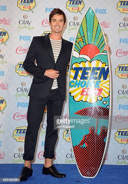 Actor Ian Harding poses in the press room at the 2014 Teen Choice Awards at The Shrine Auditorium on August 10 2014 in Los Angeles California