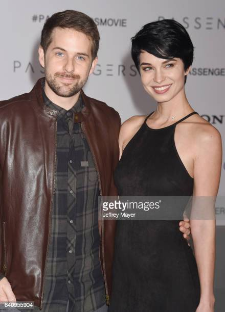 Actor Ian Hecox and actress/model Pamela Horton arrive at the Premiere Of Columbia Pictures' 'Passengers' at Regency Village Theatre on December 14...
