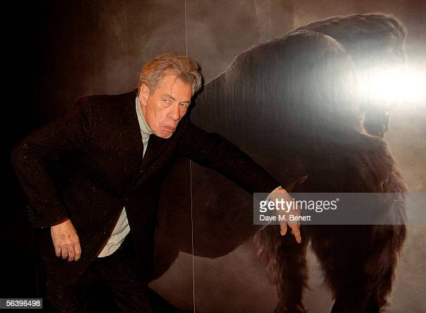 Actor Ian McKellen attends the after show party following the UK Premiere of 'King Kong' at Freemason's Hall on December 8 2005 in London England