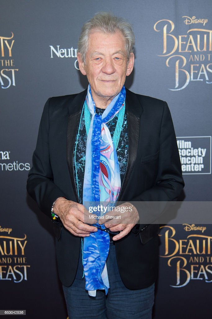 Actor Ian McKellen attends the 'Beauty And The Beast' New York screening at Alice Tully Hall at Lincoln Center on March 13, 2017 in New York City.