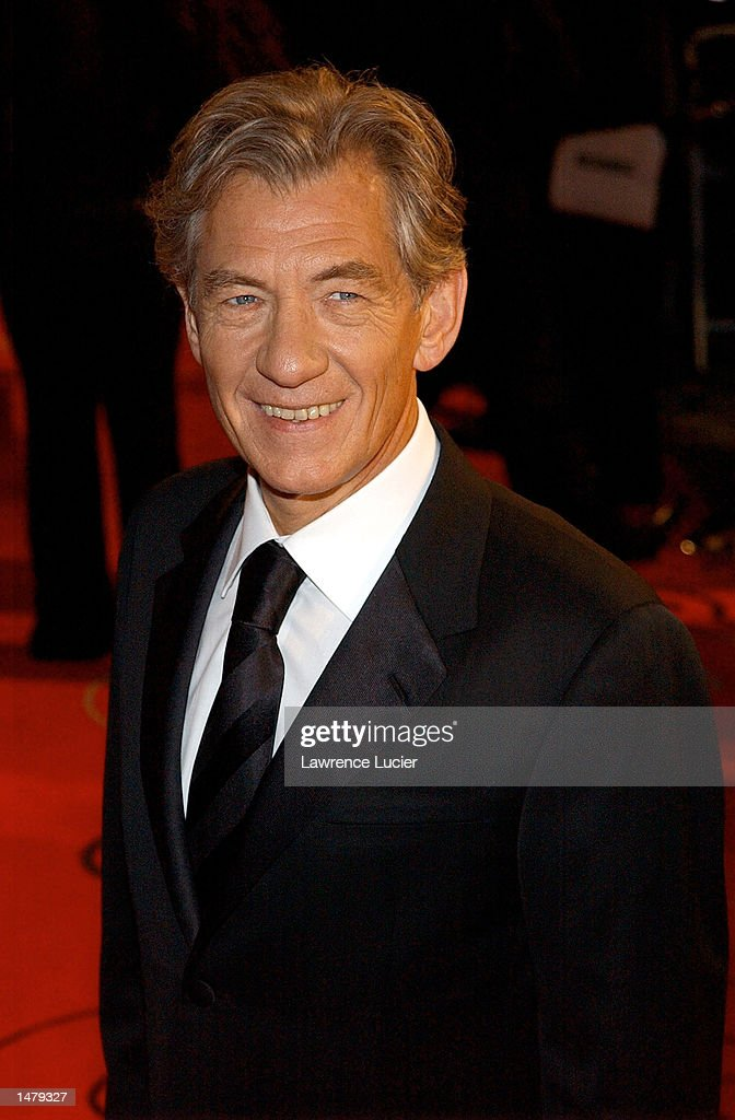 Actor Ian McKellen attends the GQ Men of the Year Awards at Manhattan Center October 16, 2002 in New York City.