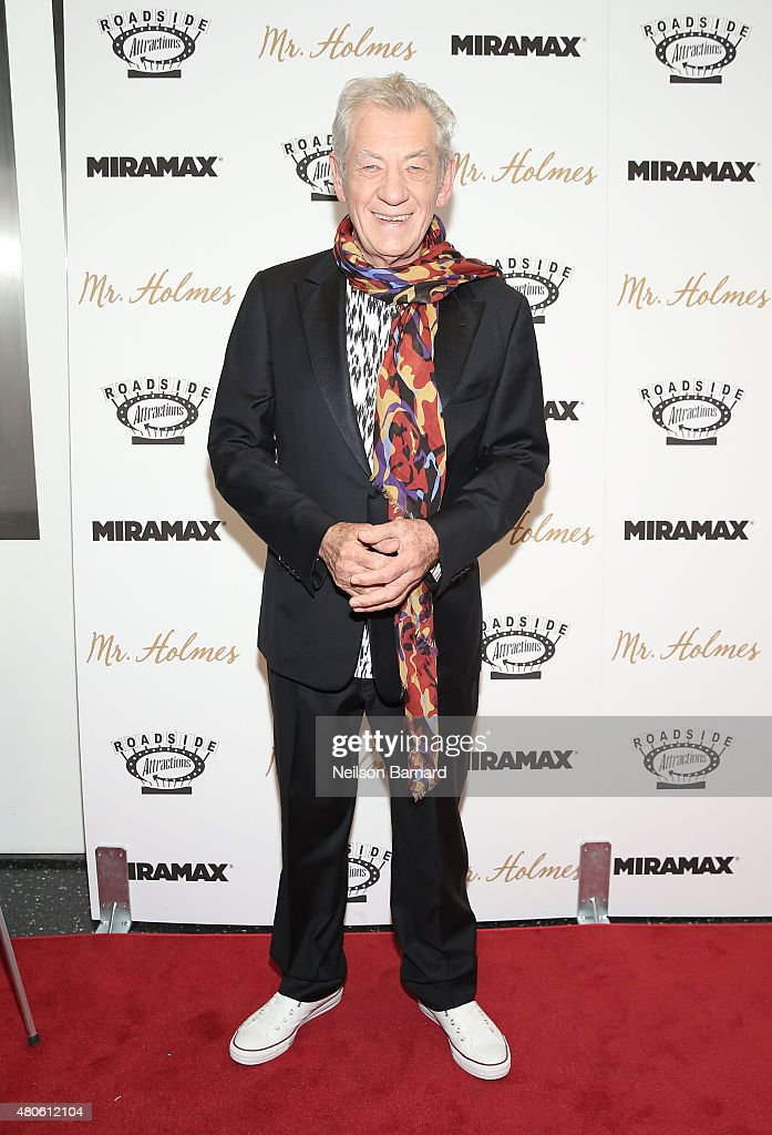 Actor <a gi-track='captionPersonalityLinkClicked' href=/galleries/search?phrase=Ian+McKellen&family=editorial&specificpeople=202983 ng-click='$event.stopPropagation()'>Ian McKellen</a> attends the New York premiere of 'Mr. Holmes' at Museum of Modern Art on July 13, 2015 in New York City.
