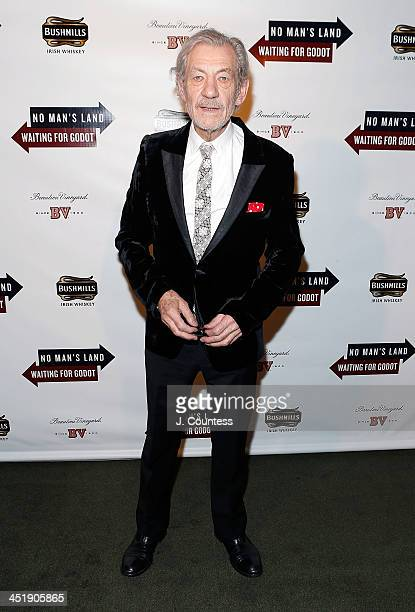 Actor Ian McKellen attends the 'No Man's Land' 'Waiting For Godot' Opening Night after party at the Bryant Park Grill on November 24 2013 in New York...