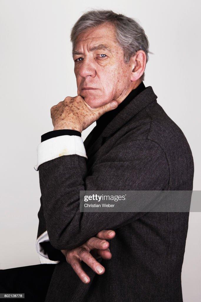 Actor Ian McKellen for Details Magazine on August 15, 2009 in New York City.