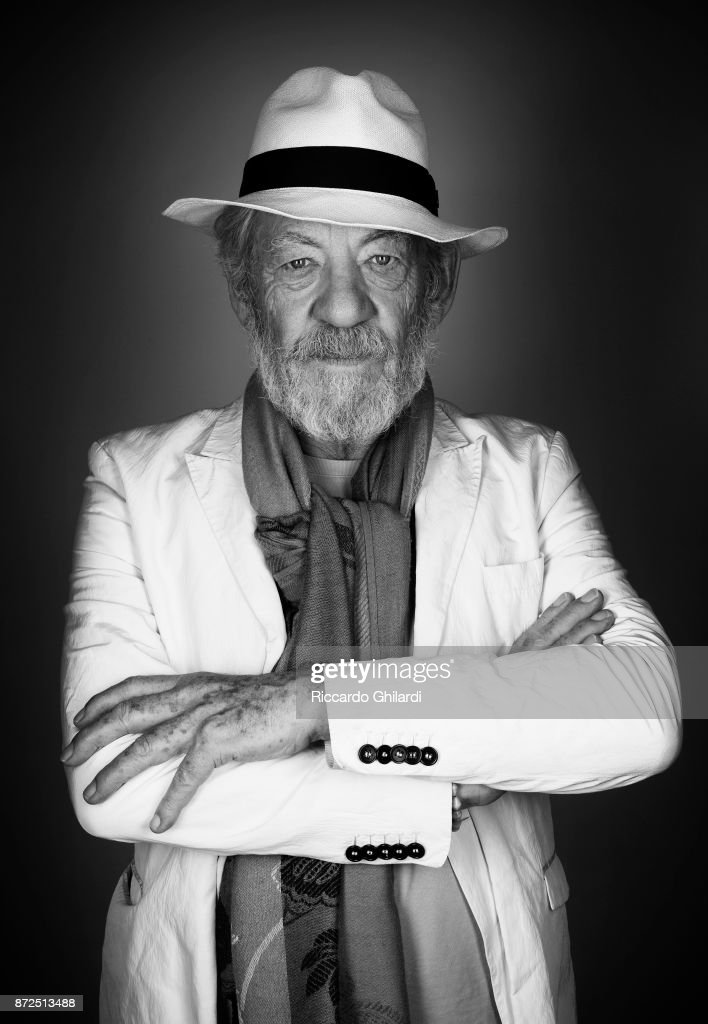 Actor Ian McKellen poses for a portrait during the 12th Rome Film Festival on November, 2017 in Rome, Italy. (Photo by Riccardo Ghilardi/Contour by Getty Images).