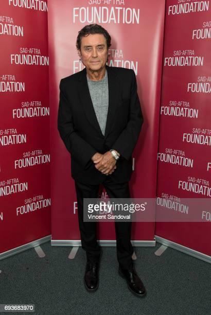 Actor Ian McShane attends SAGAFTRA Foundation's Conversations with 'American Gods' at SAGAFTRA Foundation Screening Room on June 7 2017 in Los...