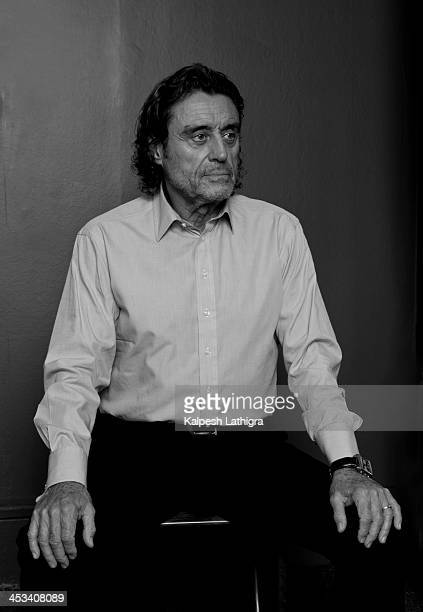 Actor Ian Mcshane is photographed for the Independent on October 23 2013 in London England