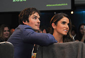 Actor Ian Somerhalder and actress Nikki Reed attend the Unlikely Heroes' 3rd Annual Awards Dinner And Gala at Sofitel Hotel on November 8 2014 in Los...