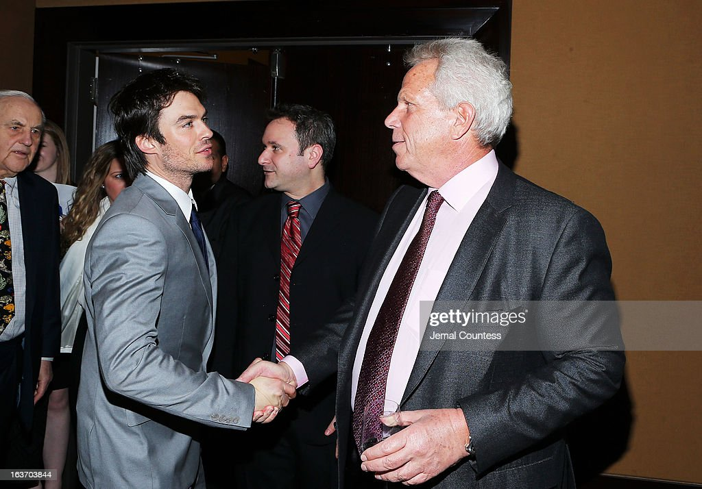 Actor Ian Somerhalder and New York Giants chairman Steve Tisch attend the 2013 Natural Resources Defense Council Game Changer Awards at the Mandarin Oriental Hotel on March 14, 2013 in New York City.