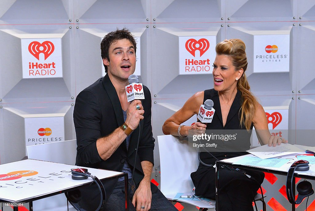 Actor Ian Somerhalder (L) and TV personality Ellen K attend the iHeartRadio Music Festival at the MGM Grand Garden Arena on September 21, 2013 in Las Vegas, Nevada.