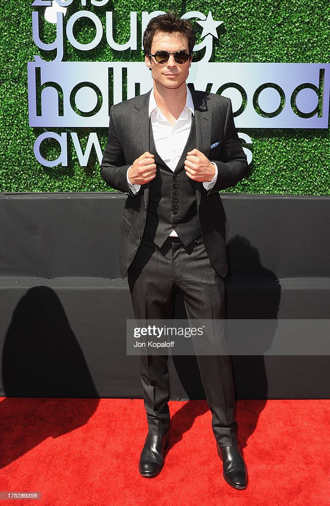 Actor <a gi-track='captionPersonalityLinkClicked' href=/galleries/search?phrase=Ian+Somerhalder&family=editorial&specificpeople=614226 ng-click='$event.stopPropagation()'>Ian Somerhalder</a> arrives at the 15th Annual Young Hollywood Awards at The Broad Stage on August 1, 2013 in Santa Monica, California.