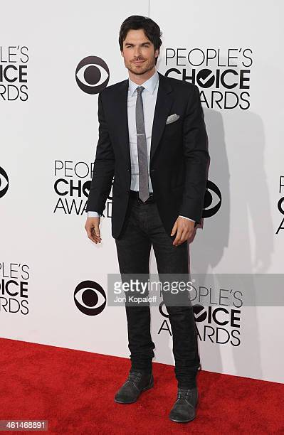 Actor Ian Somerhalder arrives at The 40th Annual People's Choice Awards at Nokia Theatre LA Live on January 8 2014 in Los Angeles California