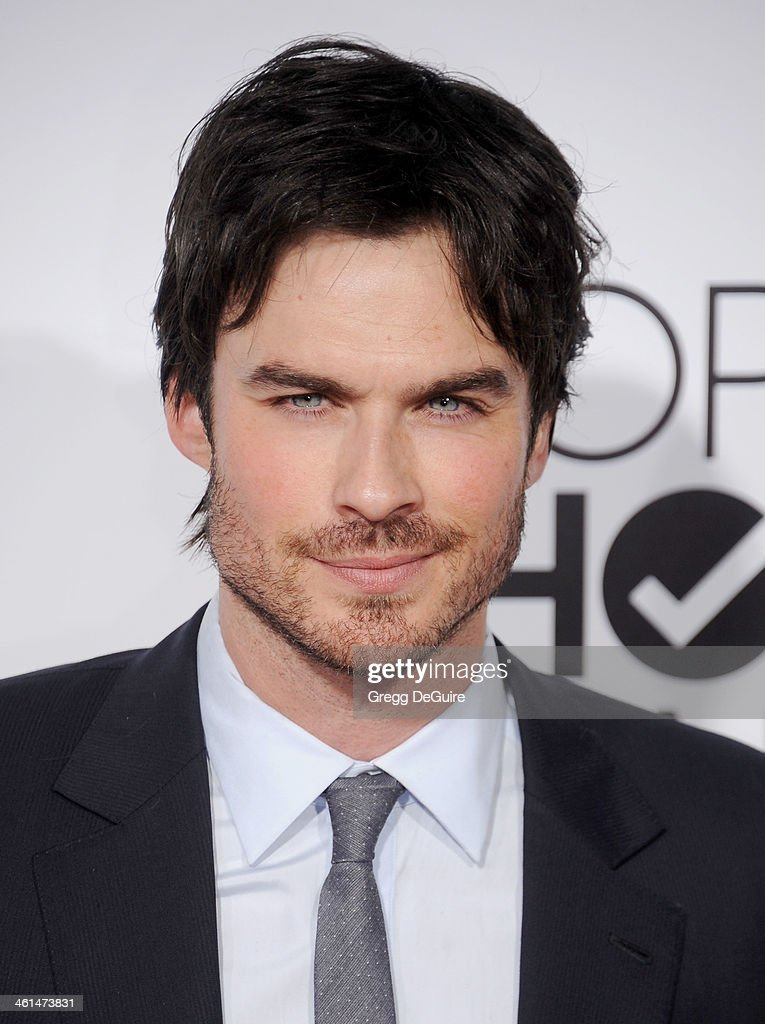 Actor <a gi-track='captionPersonalityLinkClicked' href=/galleries/search?phrase=Ian+Somerhalder&family=editorial&specificpeople=614226 ng-click='$event.stopPropagation()'>Ian Somerhalder</a> arrives at the 40th Annual People's Choice Awards at Nokia Theatre LA Live on January 8, 2014 in Los Angeles, California.