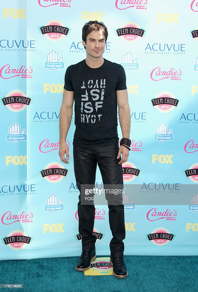 Actor Ian Somerhalder arrives at the Fox Teen Choice Awards 2013 held at the Gibson Amphitheatre on August 11, 2013 in Los Angeles, California.