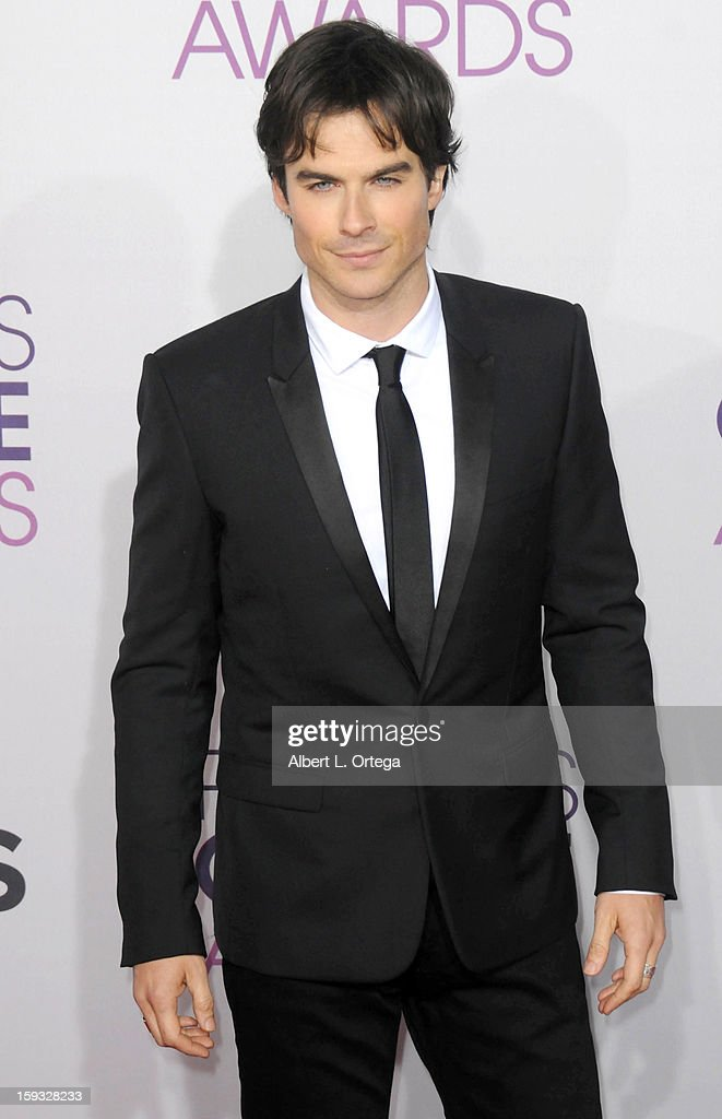 Actor Ian Somerhalder arrives for the 34th Annual People's Choice Awards - Arrivals held at Nokia Theater at L.A. Live on January 9, 2013 in Los Angeles, California.