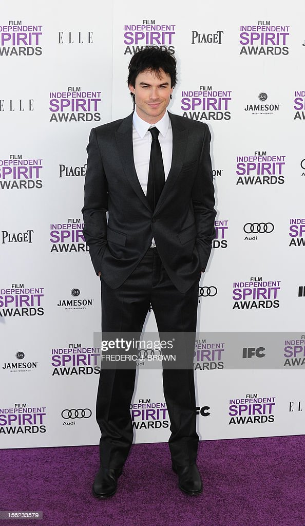 Actor Ian Somerhalder arrives on the red carpet on February 25, 2012 for the Independent Spirit Awards in Santa Monica, California.