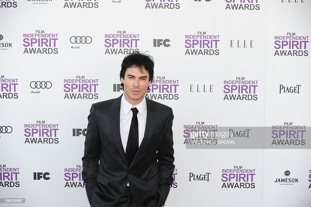 Actor Ian Somerhalder arrives on the red carpet on February 25, 2012 for the Independent Spirit Awards in Santa Monica, California. AFP PHOTO/FREDERIC J.BROWN