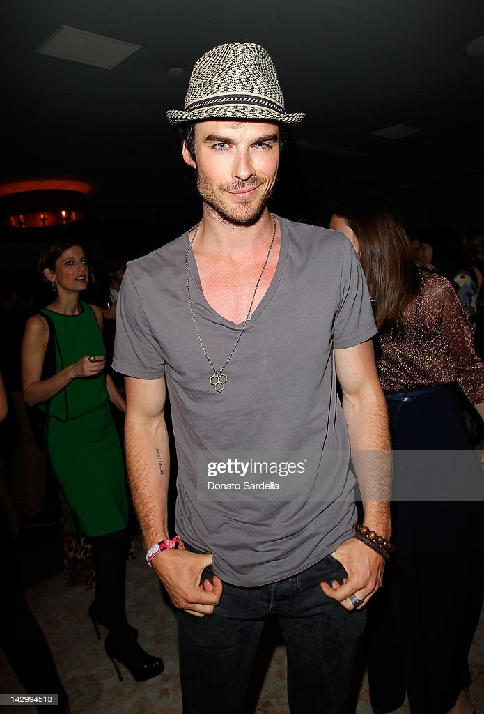 Actor <a gi-track='captionPersonalityLinkClicked' href=/galleries/search?phrase=Ian+Somerhalder&family=editorial&specificpeople=614226 ng-click='$event.stopPropagation()'>Ian Somerhalder</a> attends a celebration for Glamour's new book 'Thirty Things Every Woman Should Have and Should Know by the Time She's 30' with Cindi Leive and Rachel Zoe on April 16, 2012 in West Hollywood, California.