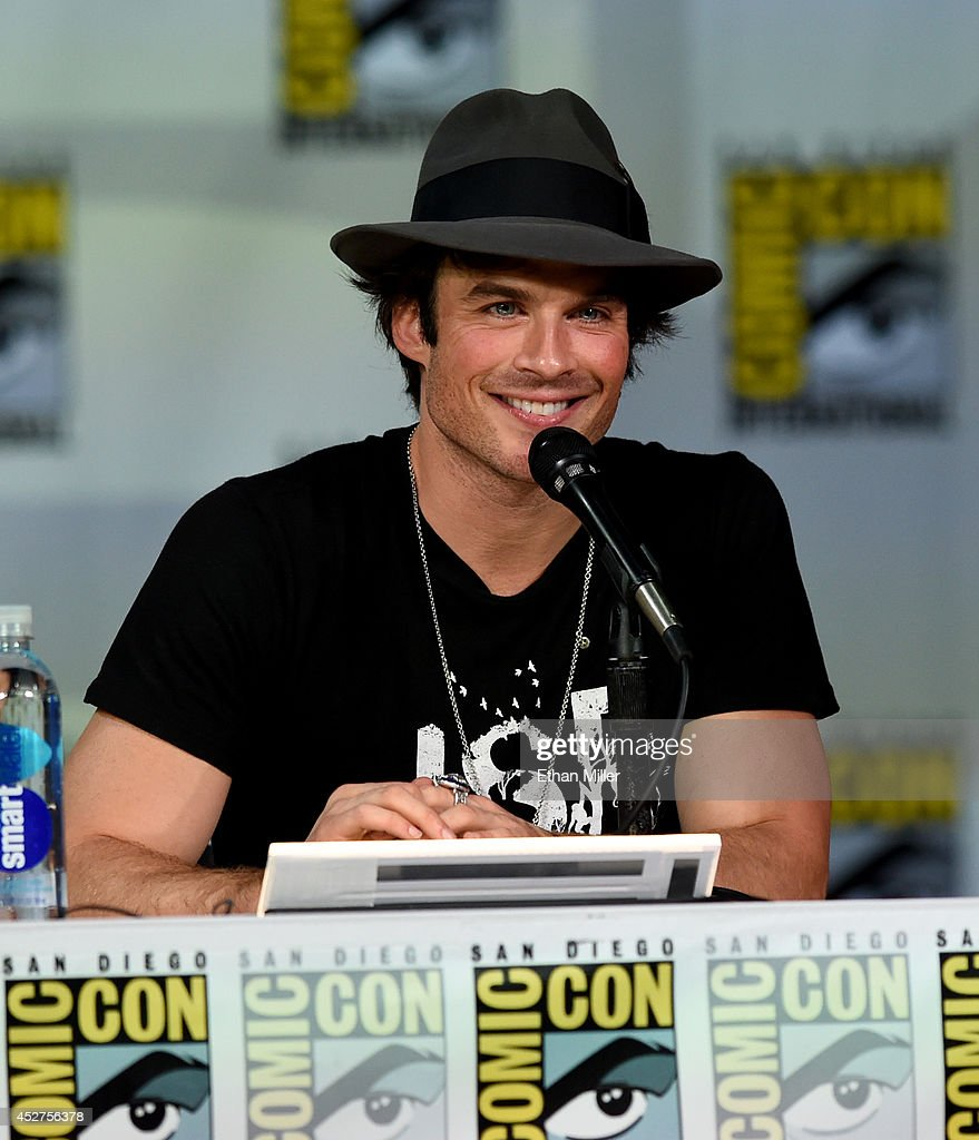 Actor Ian Somerhalder attends CW's 'The Vampire Diaries' panel during ComicCon International 2014 at the San Diego Convention Center on July 26 2014...