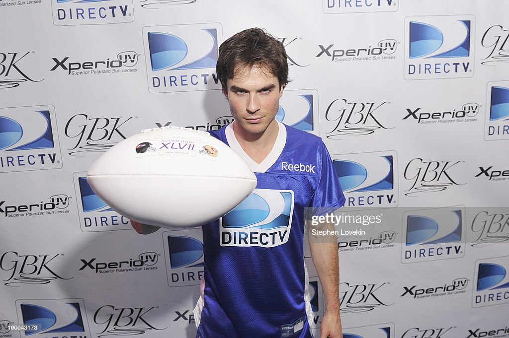 Actor <a gi-track='captionPersonalityLinkClicked' href=/galleries/search?phrase=Ian+Somerhalder&family=editorial&specificpeople=614226 ng-click='$event.stopPropagation()'>Ian Somerhalder</a> attends GBK and DirecTV Celebrity Beach Bowl Thank You Lounge at DTV SuperFan Stadium at Mardi Gras World on February 2, 2013 in New Orleans, Louisiana.