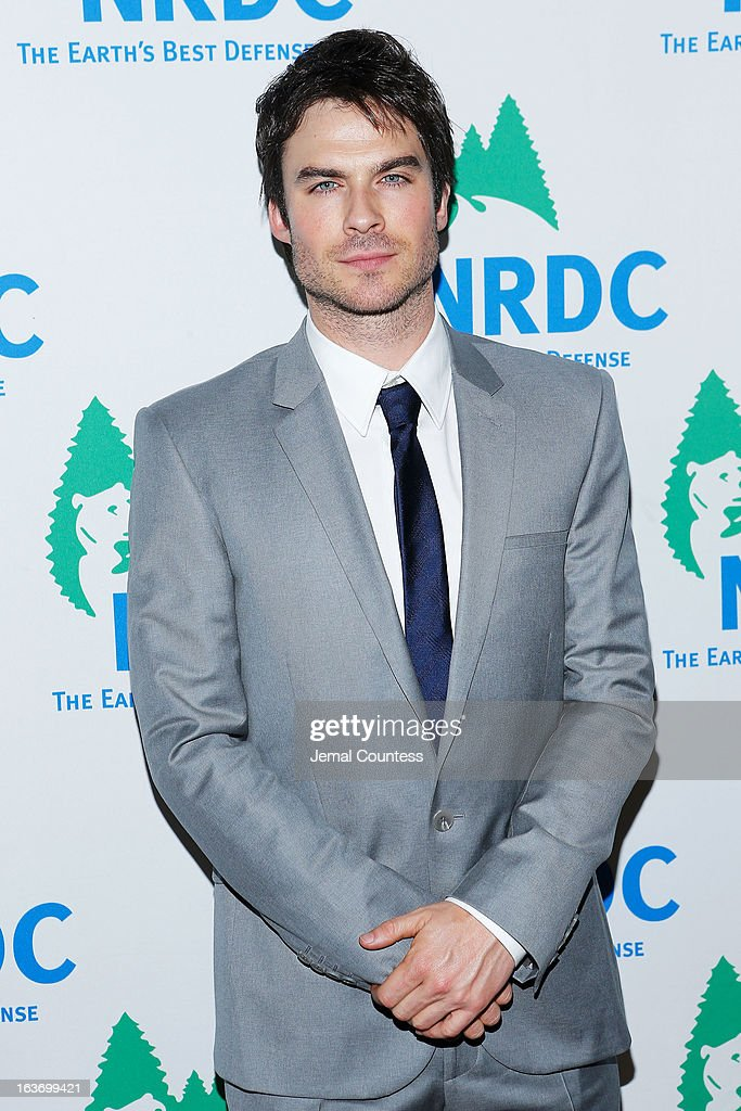 Actor <a gi-track='captionPersonalityLinkClicked' href=/galleries/search?phrase=Ian+Somerhalder&family=editorial&specificpeople=614226 ng-click='$event.stopPropagation()'>Ian Somerhalder</a> attends the 2013 Natural Resources Defense Council Game Changer Awards at the Mandarin Oriental Hotel on March 14, 2013 in New York City.