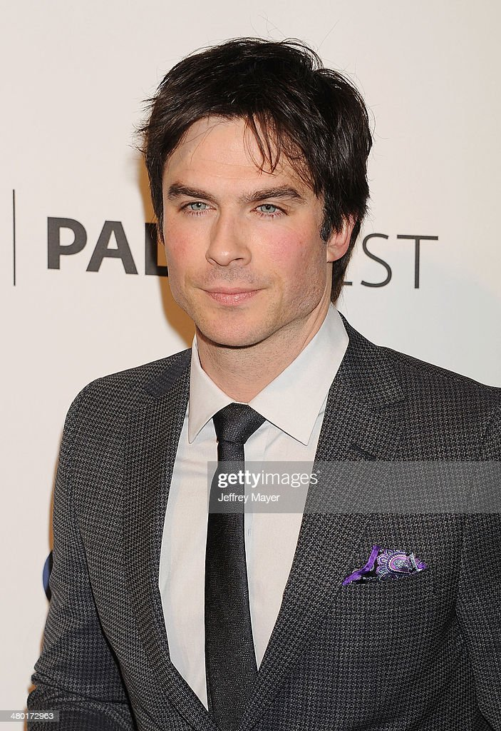 Actor <a gi-track='captionPersonalityLinkClicked' href=/galleries/search?phrase=Ian+Somerhalder&family=editorial&specificpeople=614226 ng-click='$event.stopPropagation()'>Ian Somerhalder</a> attends the 2014 PaleyFest - 'The Vampire Diaries' & 'The Originals' held at Dolby Theatre on March 21, 2014 in Hollywood, California.