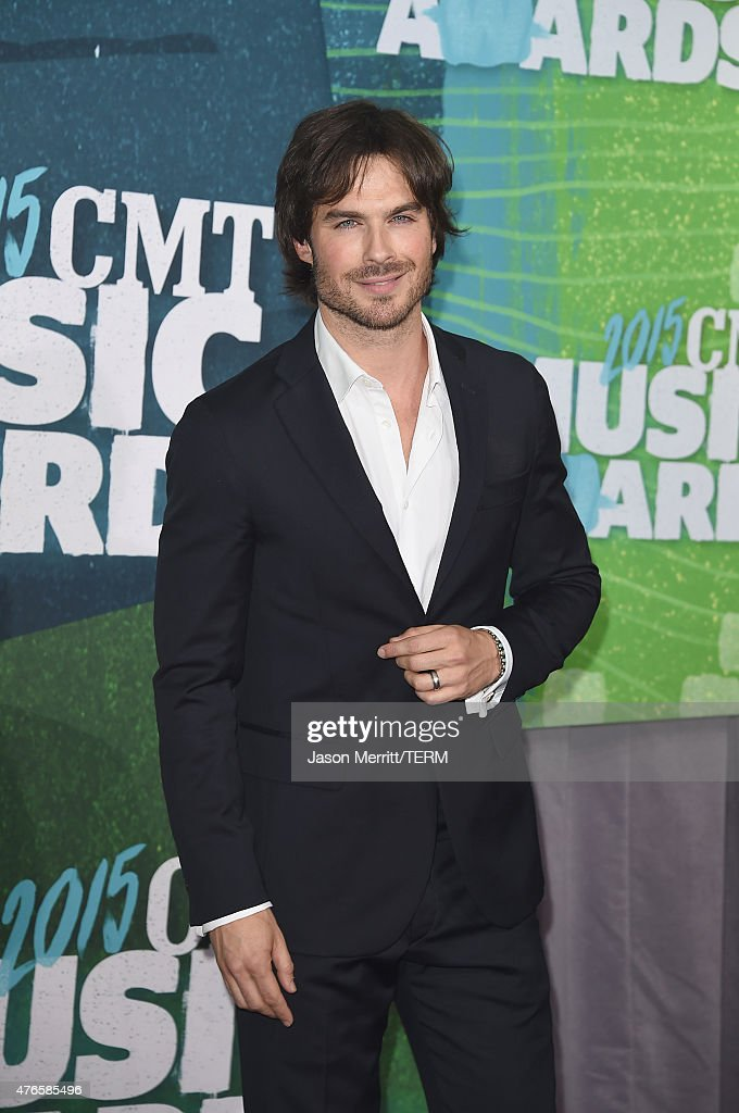 Actor <a gi-track='captionPersonalityLinkClicked' href=/galleries/search?phrase=Ian+Somerhalder&family=editorial&specificpeople=614226 ng-click='$event.stopPropagation()'>Ian Somerhalder</a> attends the 2015 CMT Music awards at the Bridgestone Arena on June 10, 2015 in Nashville, Tennessee.