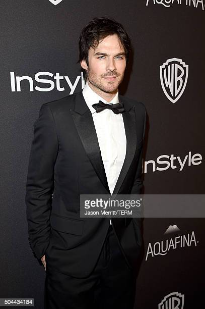 Actor Ian Somerhalder attends The 2016 InStyle And Warner Bros 73rd Annual Golden Globe Awards PostParty at The Beverly Hilton Hotel on January 10...