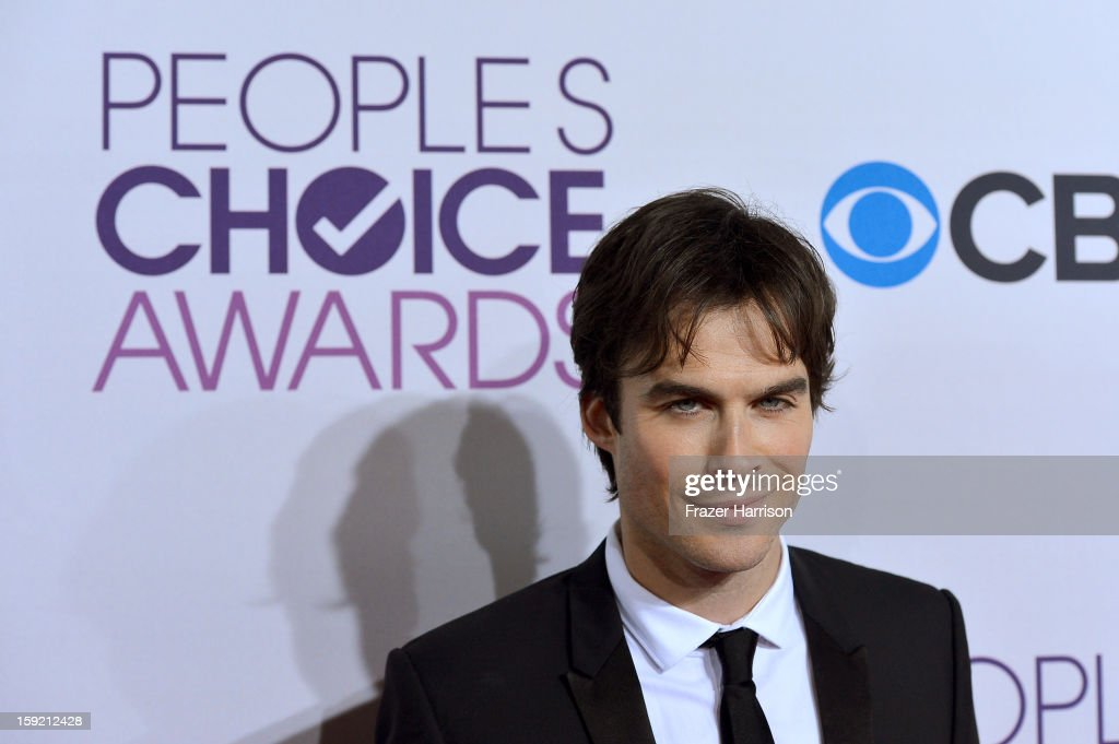 Actor <a gi-track='captionPersonalityLinkClicked' href=/galleries/search?phrase=Ian+Somerhalder&family=editorial&specificpeople=614226 ng-click='$event.stopPropagation()'>Ian Somerhalder</a> attends the 39th Annual People's Choice Awards at Nokia Theatre L.A. Live on January 9, 2013 in Los Angeles, California.