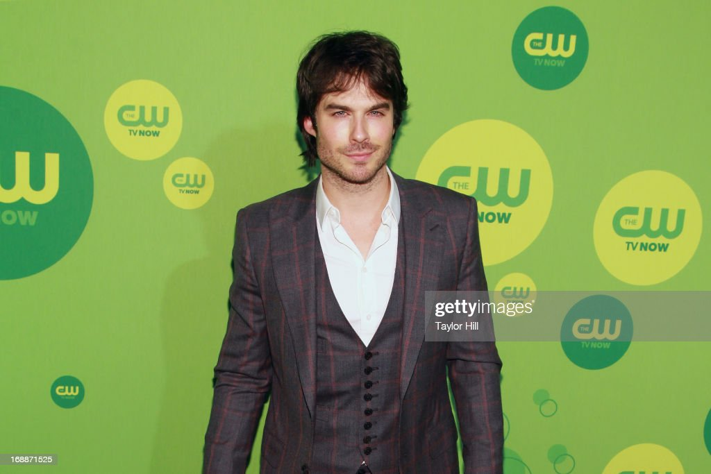 Actor <a gi-track='captionPersonalityLinkClicked' href=/galleries/search?phrase=Ian+Somerhalder&family=editorial&specificpeople=614226 ng-click='$event.stopPropagation()'>Ian Somerhalder</a> attends The CW Network's New York 2013 Upfront Presentation at The London Hotel on May 16, 2013 in New York City.