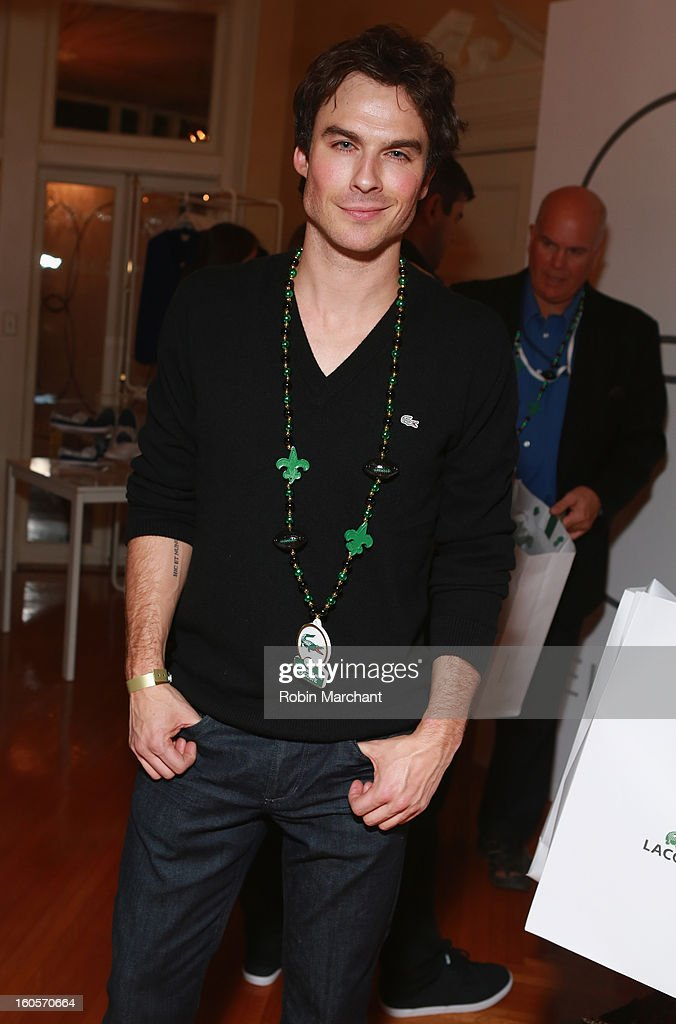 Actor Ian Somerhalder attends the GQ Super Bowl party sponsored by Lacoste and Mercedes-Benzat The Elms Mansion on February 2, 2013 in New Orleans, Louisiana.