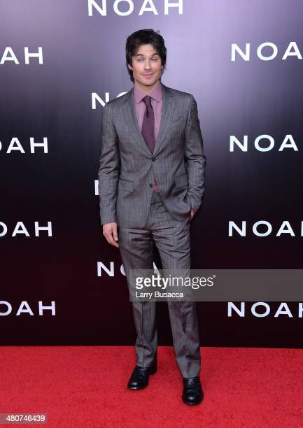 Actor Ian Somerhalder attends the New York premiere of Paramount Pictures' 'Noah' at the Ziegfeld Theatre on March 26 2014 in New York City