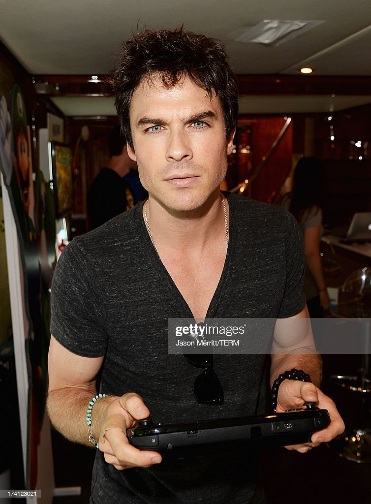 Actor <a gi-track='captionPersonalityLinkClicked' href=/galleries/search?phrase=Ian+Somerhalder&family=editorial&specificpeople=614226 ng-click='$event.stopPropagation()'>Ian Somerhalder</a> attends the Nintendo Oasis on the TV Guide Magazine Yacht at Comic-Con day 3 on July 20, 2013 in San Diego, California.