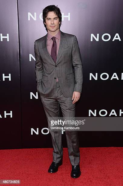 Actor Ian Somerhalder attends the 'Noah' New York premiere at Ziegfeld Theatre on March 26 2014 in New York City