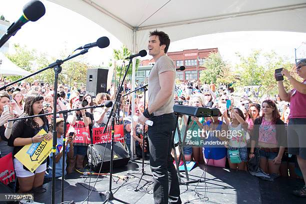 Actor Ian Somerhalder attends the Sierra Club's Asheville Beyond Coal A Rally for Our Future at Pack Square on August 24 2013 in Asheville North...
