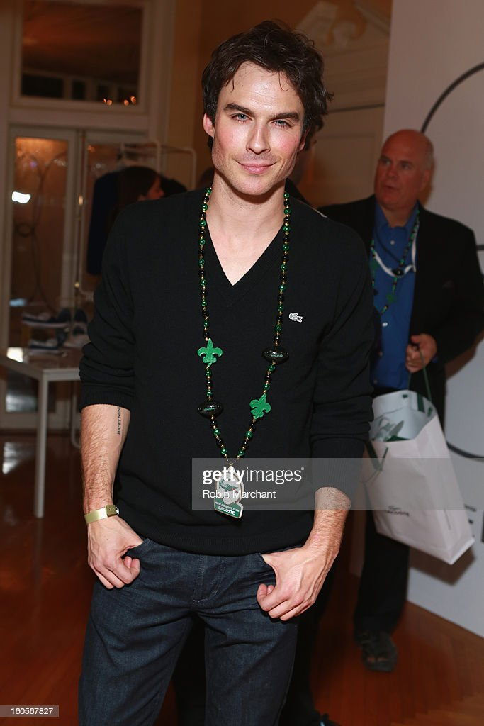 Actor Ian Somerhalder attends the Super Bowl party sponsored by Lacoste and Mercedes-Benz at The Elms Mansion on February 2, 2013 in New Orleans, Louisiana.