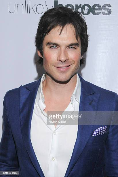 Actor Ian Somerhalder attends the Unlikely Heroes' 3rd Annual Awards Dinner And Gala at Sofitel Hotel on November 8 2014 in Los Angeles California