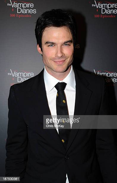 Actor Ian Somerhalder attends The Vampire Diaries 100th Episode Celebration on November 9 2013 in Atlanta Georgia