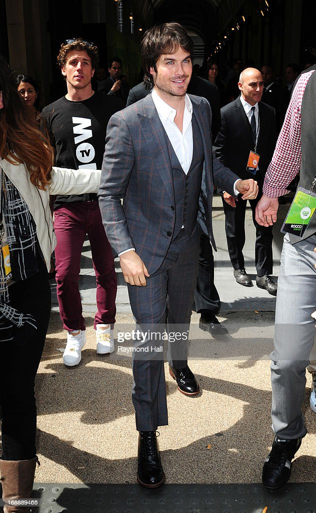 Actor Ian Somerhalder is seen outside 'the 'London Hotel' on May 16, 2013 in New York City.