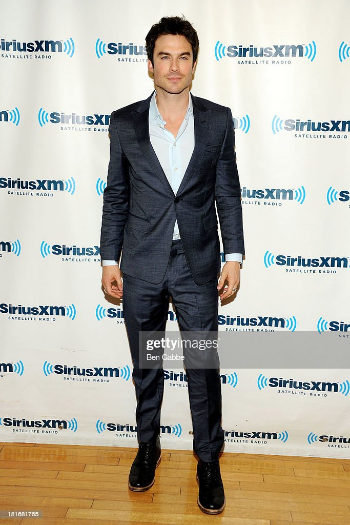 Actor Ian Somerhalder poses at SiriusXM Studios on September 23, 2013 in New York City.