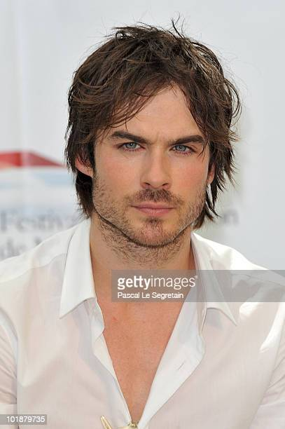Actor Ian Somerhalder poses during a photo call for the TV series 'The Vampire Diaries' during the 2010 Monte Carlo Television Festival held at...