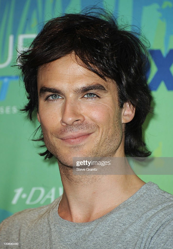 Actor <a gi-track='captionPersonalityLinkClicked' href=/galleries/search?phrase=Ian+Somerhalder&family=editorial&specificpeople=614226 ng-click='$event.stopPropagation()'>Ian Somerhalder</a> poses in the press room at the 2011 Teen Choice Awards held at the Gibson Amphitheatre on August 7, 2011 in Universal City, California.