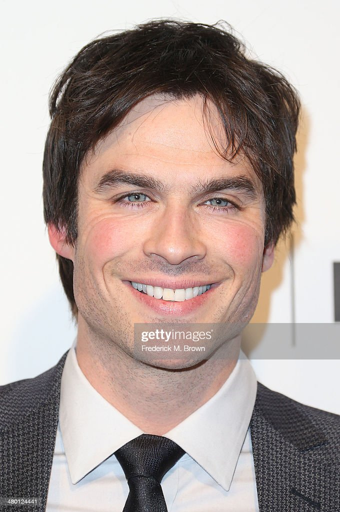 Actor <a gi-track='captionPersonalityLinkClicked' href=/galleries/search?phrase=Ian+Somerhalder&family=editorial&specificpeople=614226 ng-click='$event.stopPropagation()'>Ian Somerhalder</a> speaks during The Paley Center for Media's PaleyFest 2014 Honoring 'The Vampire Diaries' and 'The Originals' at the Dolby Theatre on March 22, 2014 in Hollywood, California.