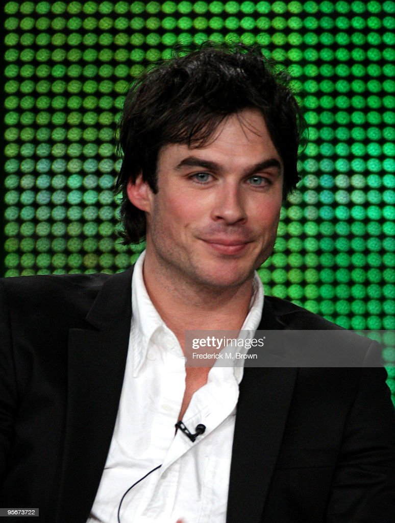 Actor Ian Somerhalder speaks onstage at the CW 'The Vampire Diaries' Q&A portion of the 2010 Winter TCA Tour day 1 at the Langham Hotel on January 9, 2010 in Pasadena, California.