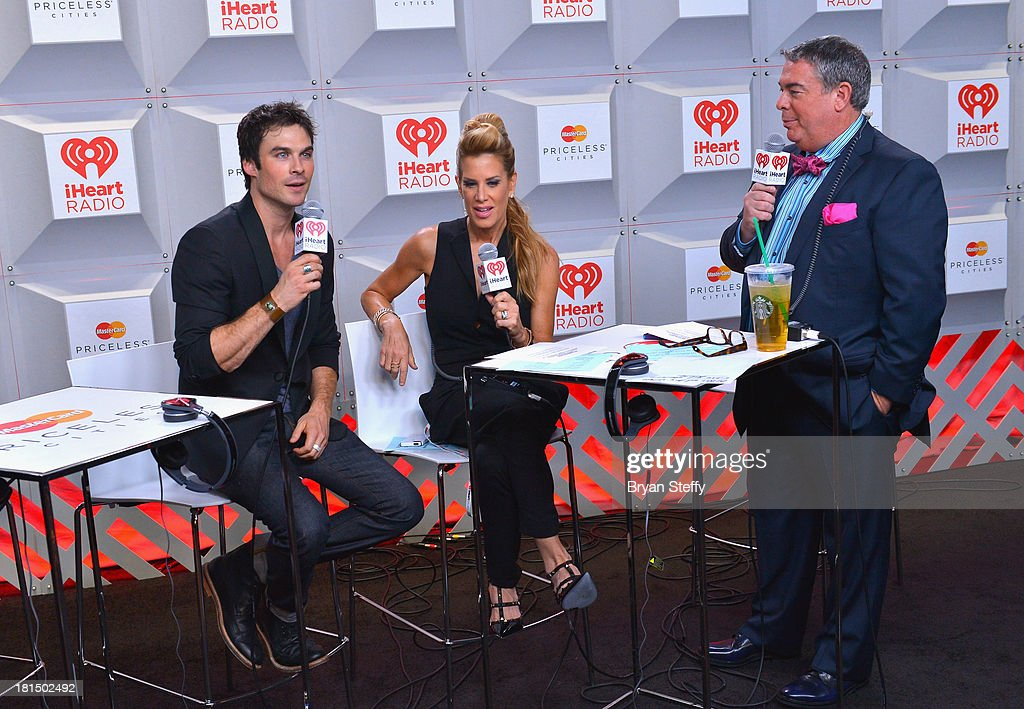 Actor Ian Somerhalder, TV personalities Ellen K and Elvis Duran attend the iHeartRadio Music Festival at the MGM Grand Garden Arena on September 21, 2013 in Las Vegas, Nevada.