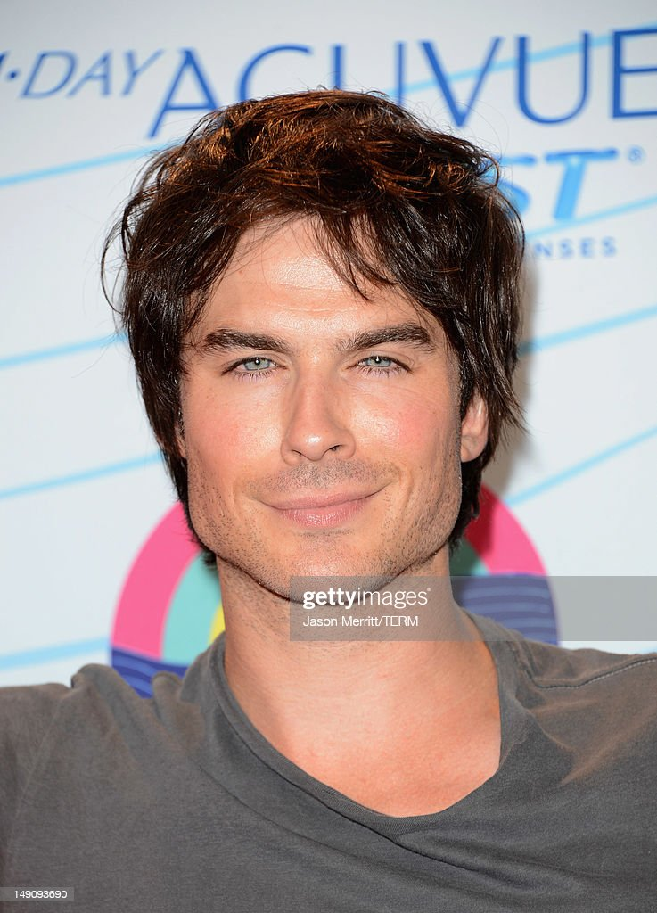 Actor <a gi-track='captionPersonalityLinkClicked' href=/galleries/search?phrase=Ian+Somerhalder&family=editorial&specificpeople=614226 ng-click='$event.stopPropagation()'>Ian Somerhalder</a>, winner of Choice Male Hottie award and Choice Fantasy/Sci-Fi Show award, poses in the press room during the 2012 Teen Choice Awards at Gibson Amphitheatre on July 22, 2012 in Universal City, California.